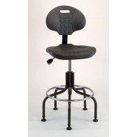 Task Chair Polyurethane, Seat Height Range 24 to 29'' Black