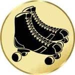 S.B.J - Sportland Pokal/Medaille Emblem, Motiv Rollschuhe, Durchmesser 50 mm Durchmesser Pokal / Medaille Emblem bronze