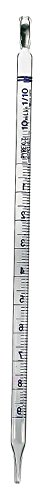 Corning 7078-10N Pyrex Disposable Serological Pipet, TD, Multipack, Sterile, Plugged, 0.01 mL Graduation Interval, 10 mL (Pack of 20)