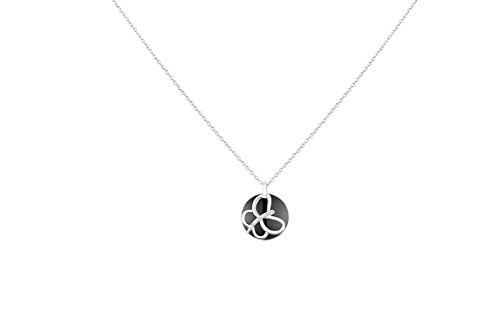 Ceranity - Collier avec pendentif - Argent 925 - Diamant 0.015 cts - 45 cm - 1-78/0022-N