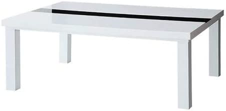 ラスターホワイト こたつテーブル 4尺長方形(80×120cm)のみ 鏡面仕上げアーバンモダンデザインこたつ VASPACE ヴァスパスシリーズより【ノーブランド品】