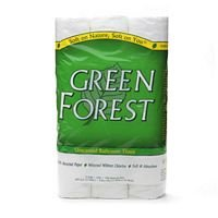 Green Forest 2 Ply White Bathroom Tissue - 4 per -
