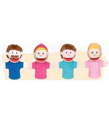 Caucasian Family Puppet - Family Bigmouth Puppets Caucasian Family Of 4 By Get Ready Kids