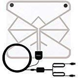 Wsky 60+ Miles 1080P Transparent Digital HDTV Antenna by Wsky