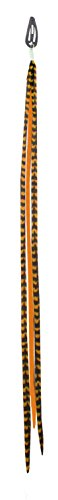 Mia Clip-n-Faux Feathers-Animal Friendly Fake Feathers That Clip To The Hair-Temporary & Reusable-Orange-13