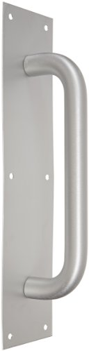 1 Clear Anodized Aluminum Handle (Rockwood 111 X 70B.28 Aluminum Pull Plate, 15