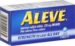 Aleve Pain Reliever/Fever Reducer Tablets, 100 ea (Pack of 3)