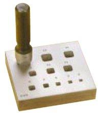 Bezel Diamond Brooch (Square Bezel Block & Punch 4-14mm 11 Holes 17° (Degrees))