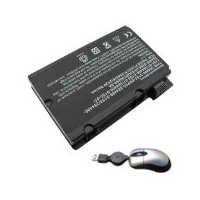 Amsahr Replacement Battery for Fujitsu PI2450, Pi2530, Pi2550, Pi3540, Xi2428, Xi2528 - Includes Mini Optical Mouse