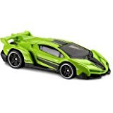 Hot Wheels 2017 HW Exotics Lamborghini Veneno 165/365, Neon Green