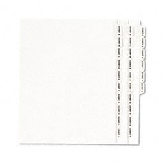 - Avery Dennison 01370 Legal Dividers, Alphabetical A-Z, Side Tabs, 11 in.x8-1/2 in.