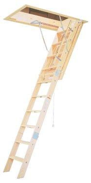 Werner WH2208 8' Wooden Attic - Ladder Wooden 8ft