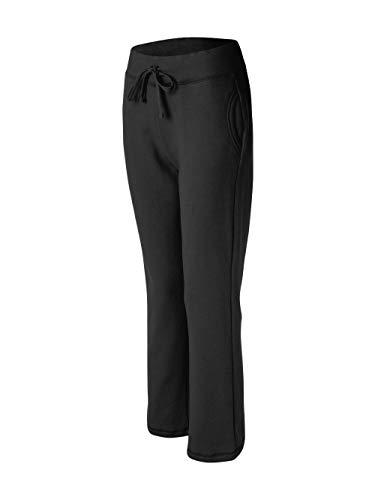 Ladies' Heavy Blend Yoga Style Sweatpants, Black, Large