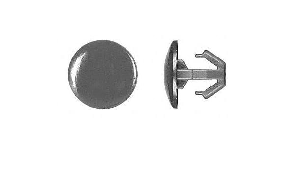 Black Nylon Hooked Push In Rivet pack of 5 9mm L 6mm Dia 6mm