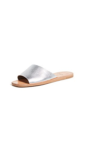 Dolce Vita Women's Cato Slide Sandal Silver Leather