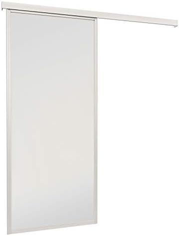 Cristal puerta puerta de cristal habitaciones para puerta VSG Color Blanco Mate 865 x 2035 mm con umlaufendem 33 mm de aluminio perfil de almacenamiento con riel.: Amazon.es: Bricolaje y herramientas