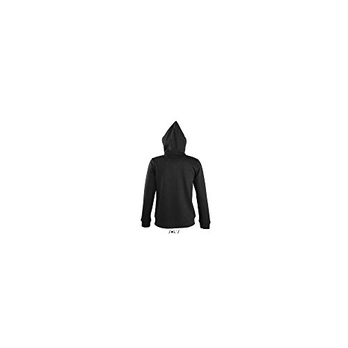 Sol' s Contrast Hooded Zip Jacket Soul Donna Black