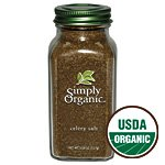 Simply Organic Celery Salt ORGANIC 5.54 oz. Bottle (a) - 2pc