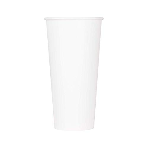 22 Oz Paper Cold Cup - Karat C-KCP22W 22 oz Paper Cold Cup, White, White (Pack of 1000)