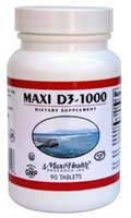 Maxi Vitamin D3 1000 IU enzymaxed for easy digestion - 90 tablets