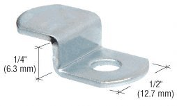 """CRL Offset Mirror Clip for 1/4"""" Glass - Package"""