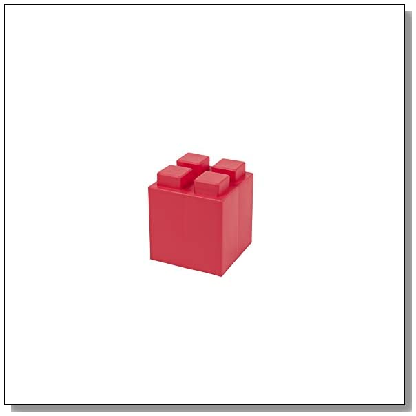EverBlock Modular Building Blocks - Half Block Bulk Pack, 8 Blocks - Red