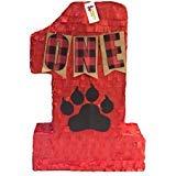 APINATA4U Number One Lumberjack Theme Pinata with Bear Paw ()