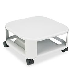 MAT24050 Mobile Printer Stand, Steel,2-Shelf,17x17x8-1/2, Platinum