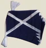Scotland Scottish St Andrew Cross Flag Polyester Bunting 6m For Sale