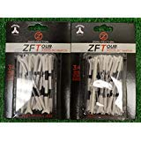 2 Zero Friction ZFTour 3 Prong White Golf Tees 3 1/4