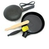 Electric Crepe Maker with BONUS Silicone Basting Brush