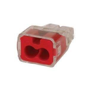 Ideal 32 Red #12-#20 Guage In-Sure 2-Port Push-In Wire Connectors (10-Pack) Made in USA