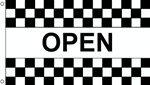 Nylon Outdoor Flag, 3' x 5', Black and White Checkered