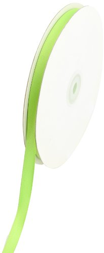 Creative Ideas Solid 3/8-Inch Grosgrain Ribbon, 50-Yard, Apple Green