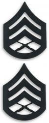 (Marine Corps Staff Sergeant Black Collar Device Rank Insignia Pair)