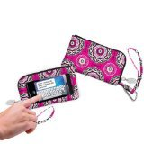 Charm14 Cell Phone Holder Deluxe Wallet Bag Wristlet - Re...