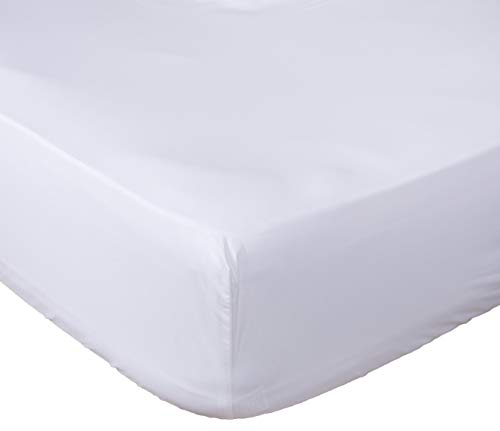 Lux Decor Collection Fitted Sheet Queen White Brushed Microfiber 1800 Bedding - Wrinkle, Fade, Stain Resistant - Hypoallergenic (White, Queen)