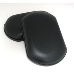 Calf Pad Padded (Wheelchair Legrest Black Calf Pad, Upholstered, Black Base - Pair)