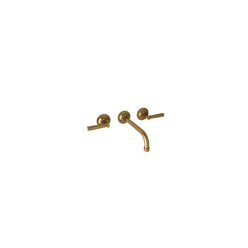 - Rohl MB2030DMFB-2 Michael Berman Graceline Wall Mounted Three Hole Lavatory Faucet with Metal Dial Handles, French Brass