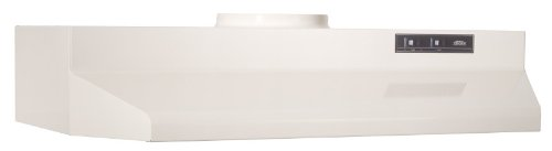 Broan 423002 Range Hood Insert with Light, Exhaust Fan for Under Cabinet, Bisque White, 6.0 Sones, 190 CFM, 30″