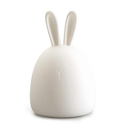 KIKISHOPQ LED Night Light for Kids, Silicone Baby Nursery Lamp for Children Girls Bedroom(Rabbit One Size) ()
