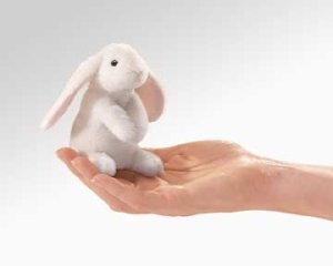 Folkmanis Mini Lop Earred Rabbit Finger Puppet (Puppet Stage Rabbit)