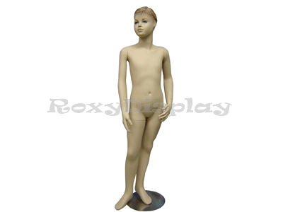 Boy Mannequin - (MD-501F) ROXY DISPLAY Realistic Child (kid) Mannequin Fleshtone, Fiberglass, standing