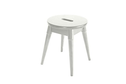 New Ridge Home Goods Arendal Solid Wood Round Stool, White