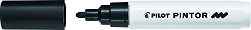 Pilot Pintor Multi Surface Medium Line Permanent Marker Pens - Writes on ALL Surfaces! (Black)