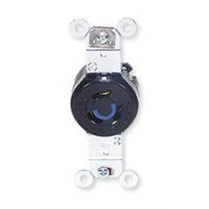 (1- Hubbell HBL4560 L6-15R twist lock receptacle 250v 2P 3W)