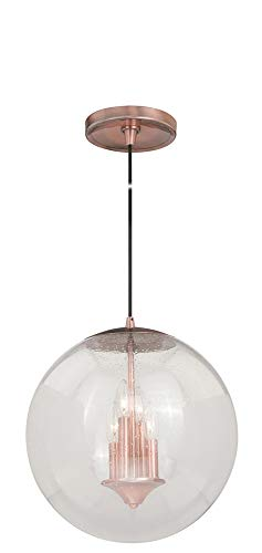 Vaxcel P0122 630 Series Pendant with Seeded Glass, 15-3/4