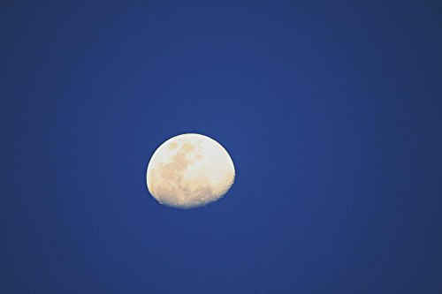 LAMINATED 36x24 inches Poster: Moon Luna Sky Lunar Night Nig
