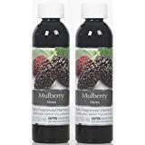 (Hosley Set of 2, 5 Ounce Mulberry Fragrance Warming Oils. Ideal Gift for Weddings, spa, Reiki, Meditation, Bathroom Settings. P1)