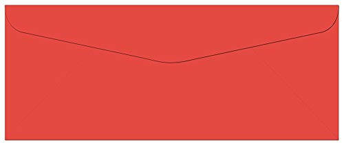 Note Card Cafe Colored Letter Envelopes #10 | Red | 100 Pack | 9.5 x 4.125 in | Press and Seal Flap | for Business, Letters, Greeting Cards, Thank You Notes, Mailing Invitations, Documents